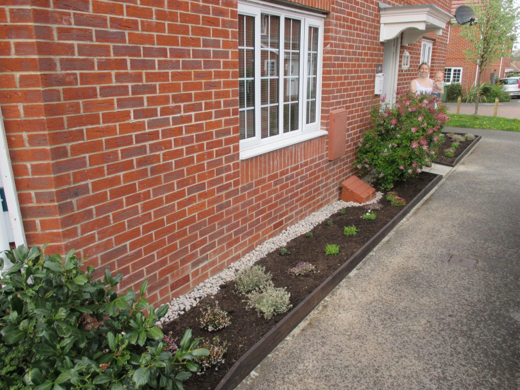 front garden outside a house