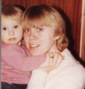 old picture of me and Mum