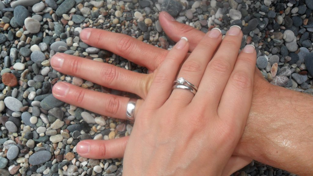 wedding rings- our wedding day