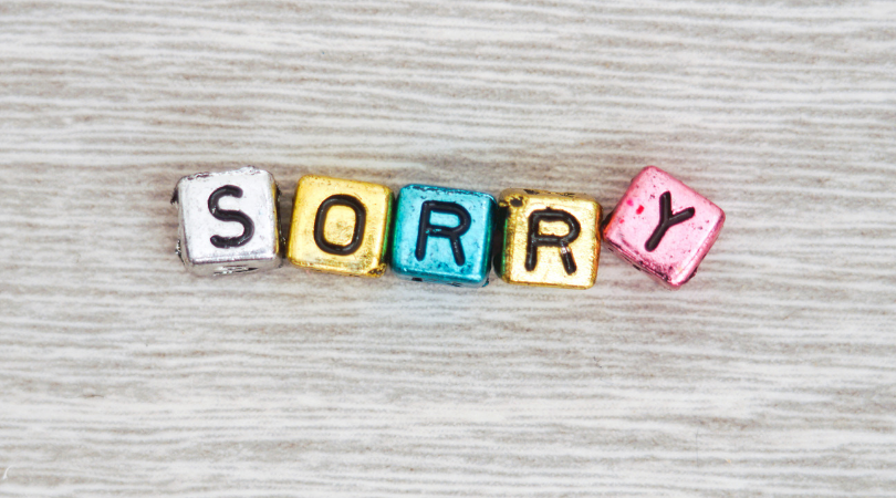 sorry sign my open apology