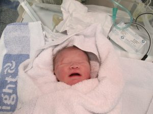 baby born after c-section