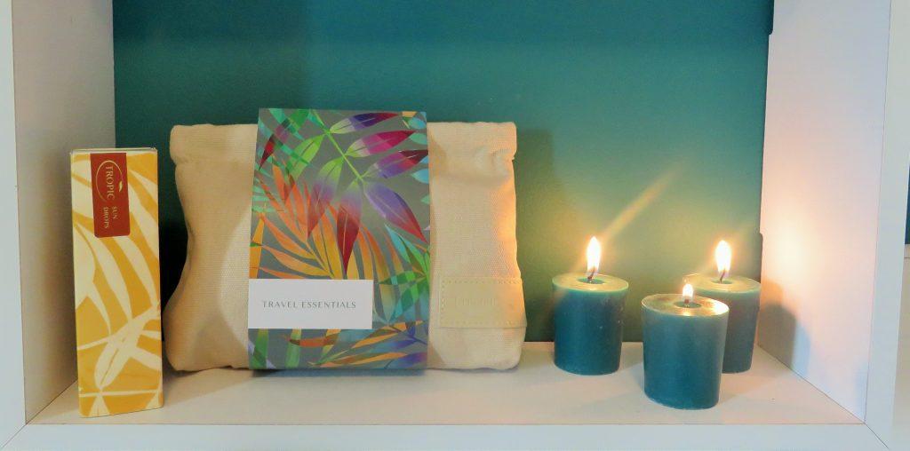 tropic skincare on a shelf