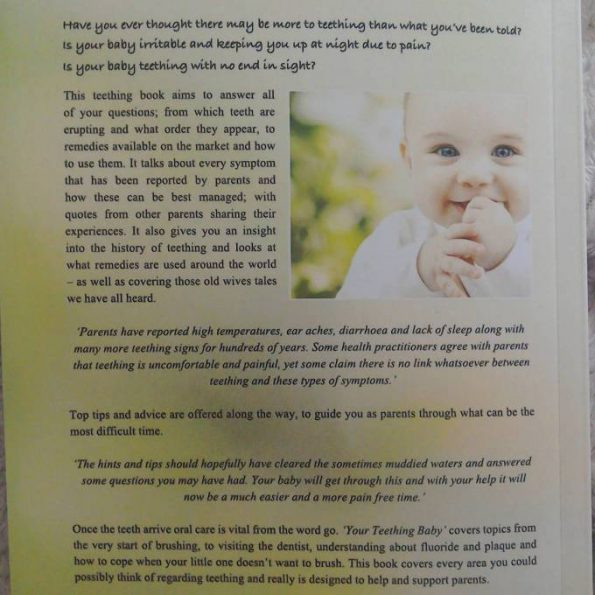 your teething baby back cover