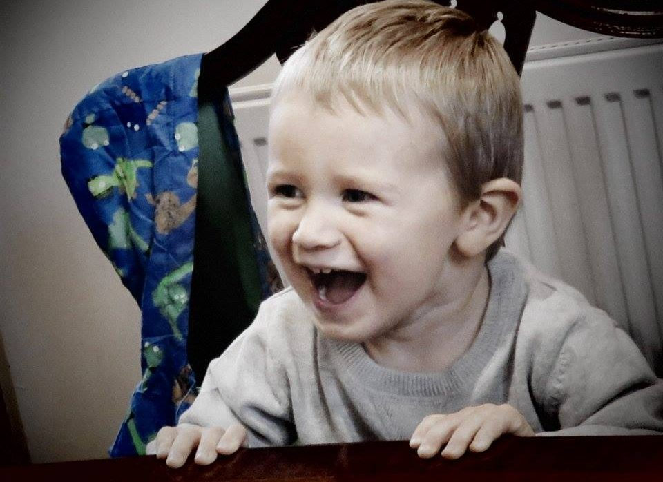 toddler laughing