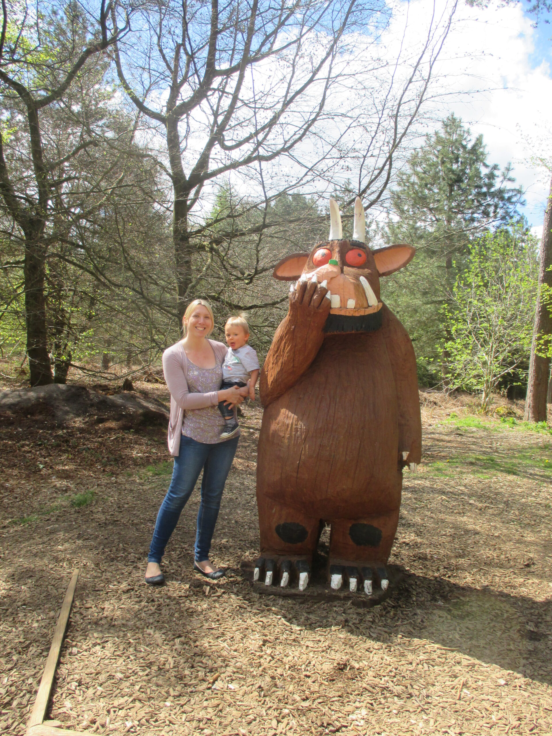 mum child and gruffalo