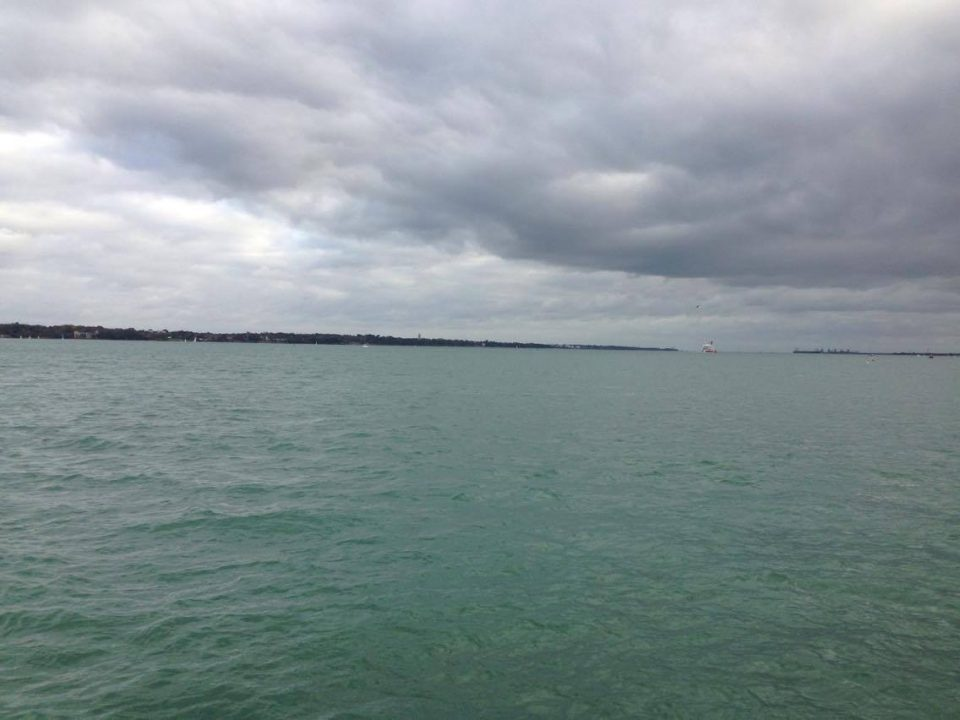 the sea at Hythe