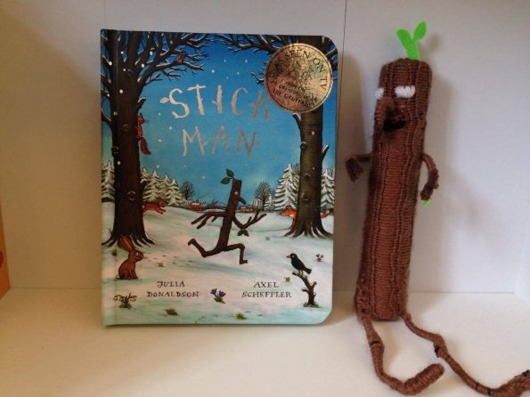 stick man book with stick man figure