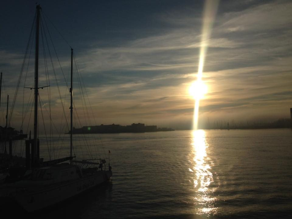 sunset across the sea