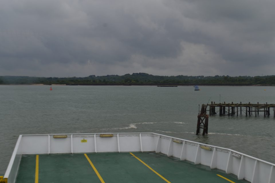 view of the sea from the ferry