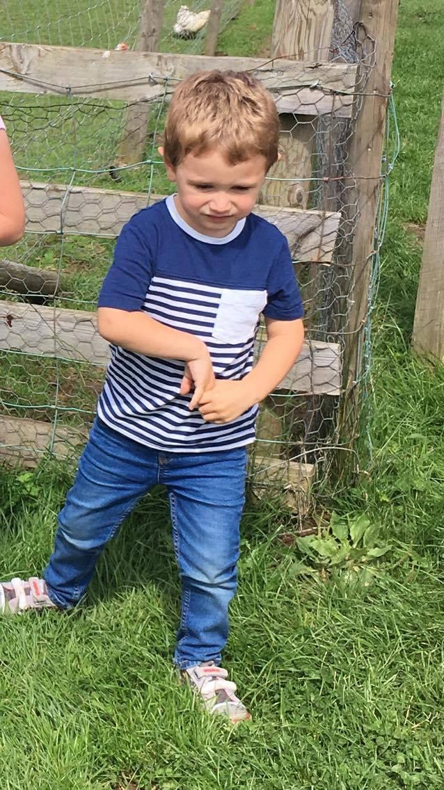 Jake at a farm