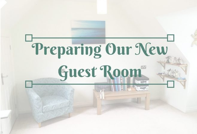 preparing our new guest room with oak furniture