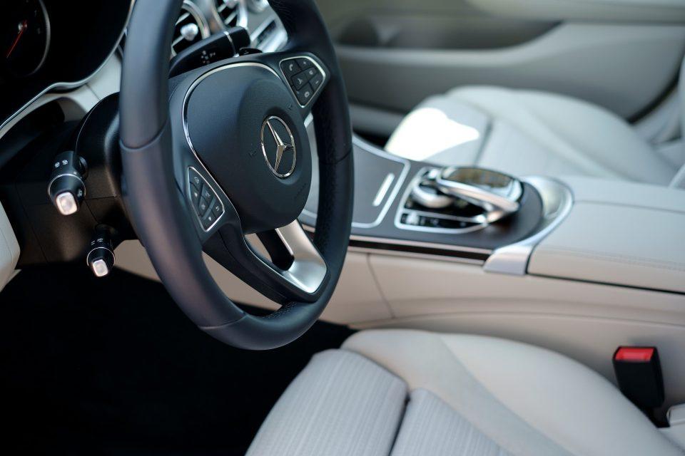 inside a clean car