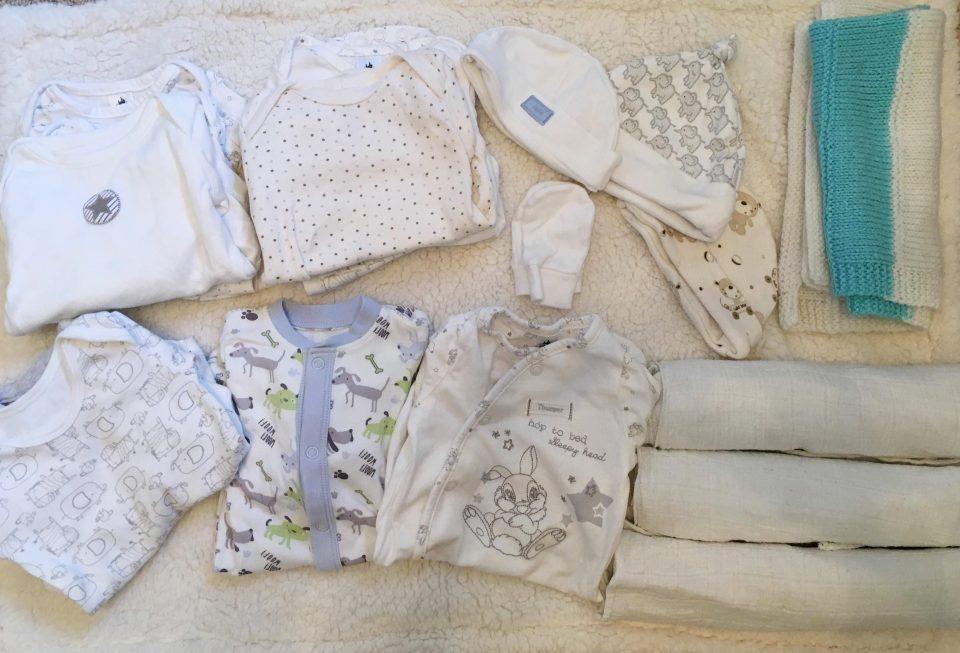 hospital bag- baby clothes