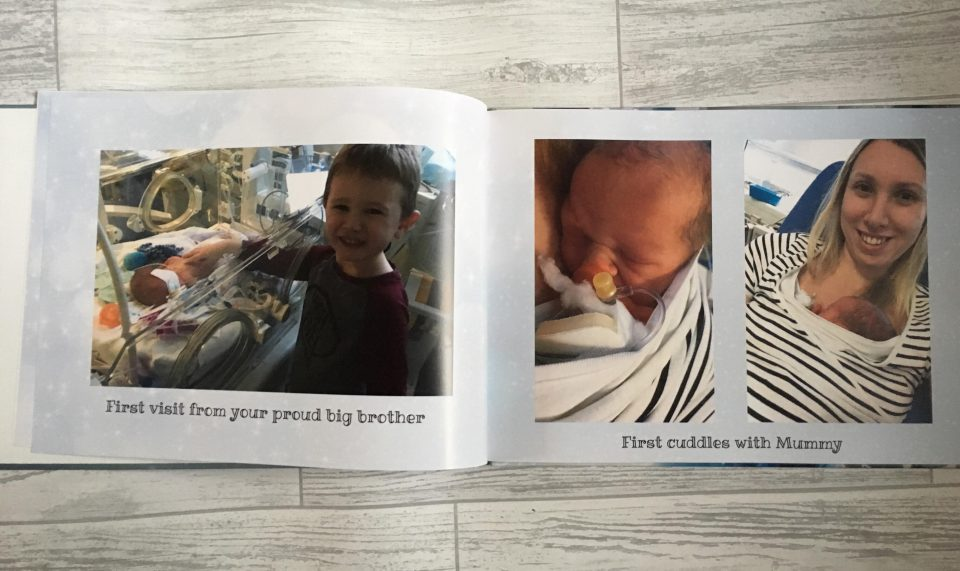 inside the photo book shows images of williams journey