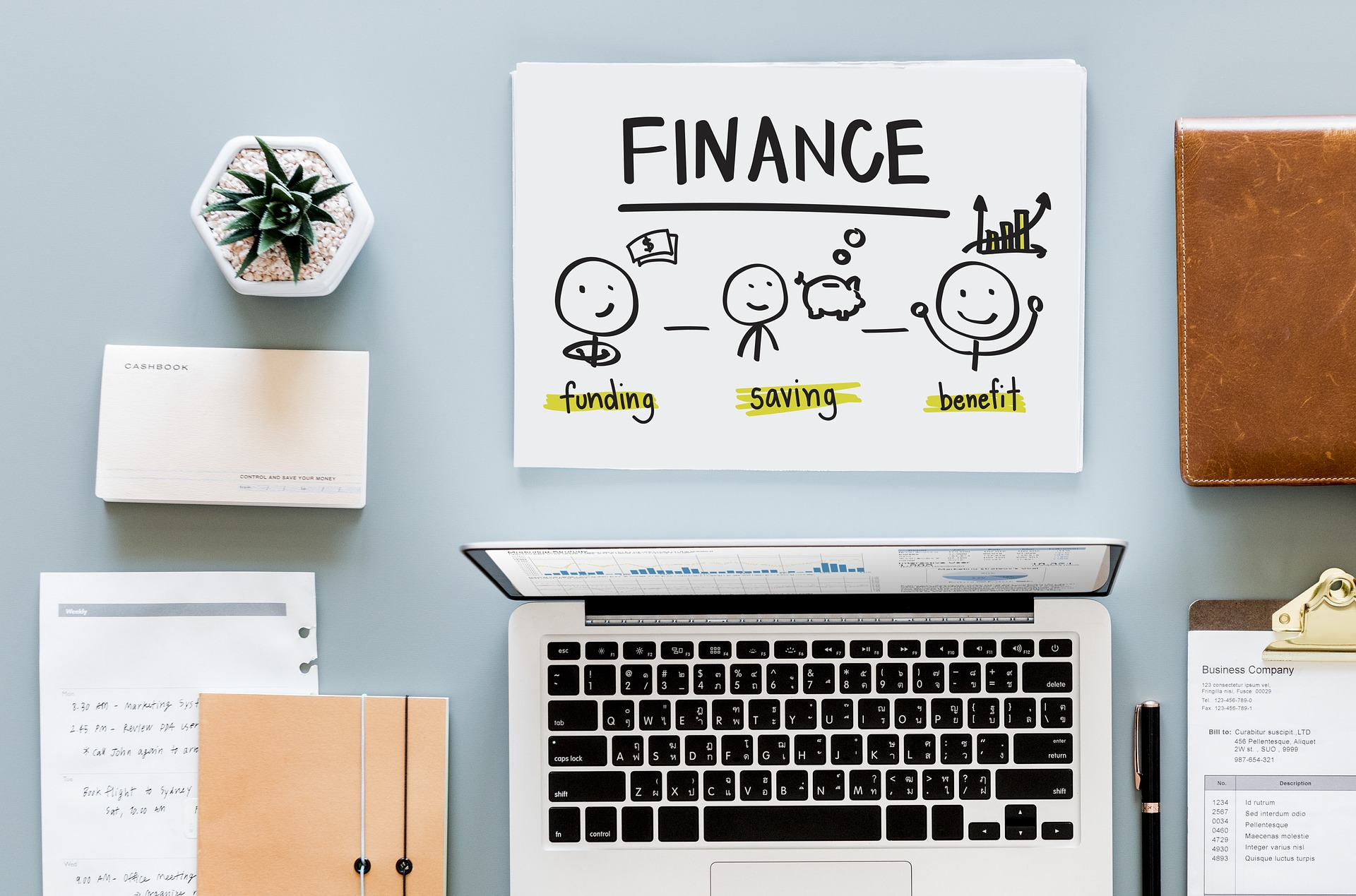 finances and laptop for maternity pay