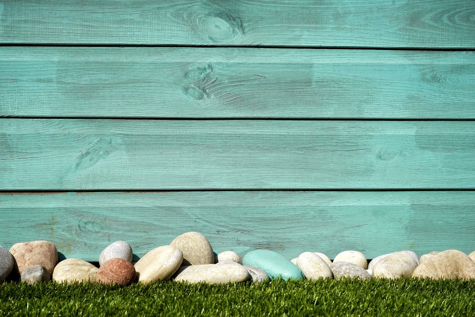 garden with stones