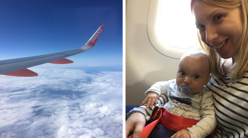 flying with a baby, mum and baby