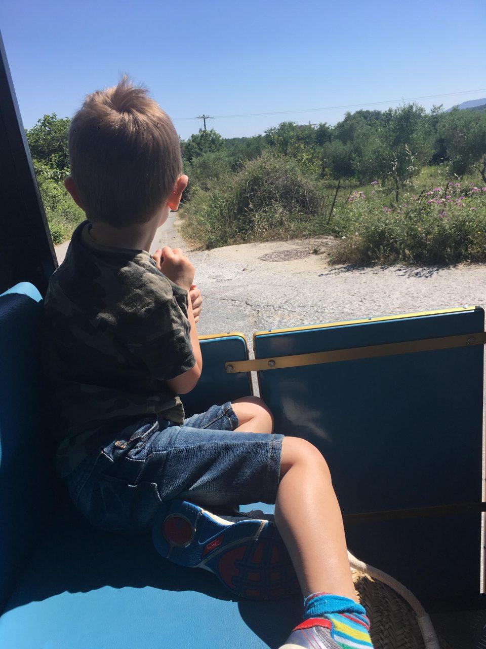 Jake on the land train