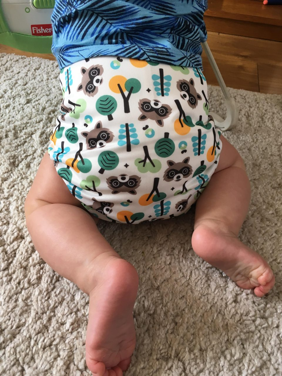 baby in a cloth nappy