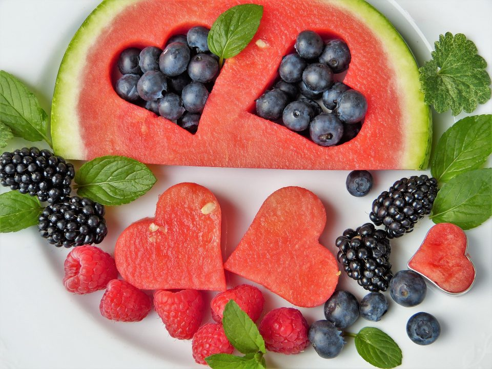 selection of healthy fruit