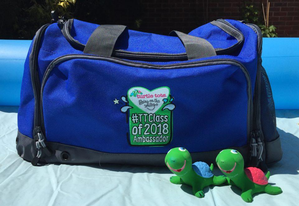 turtle tots bag and turtoe toys