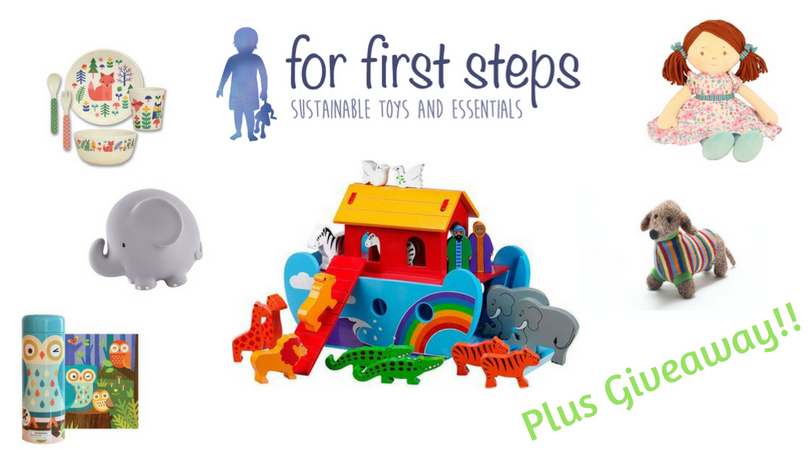 for first steps logo and toys plus giveaway
