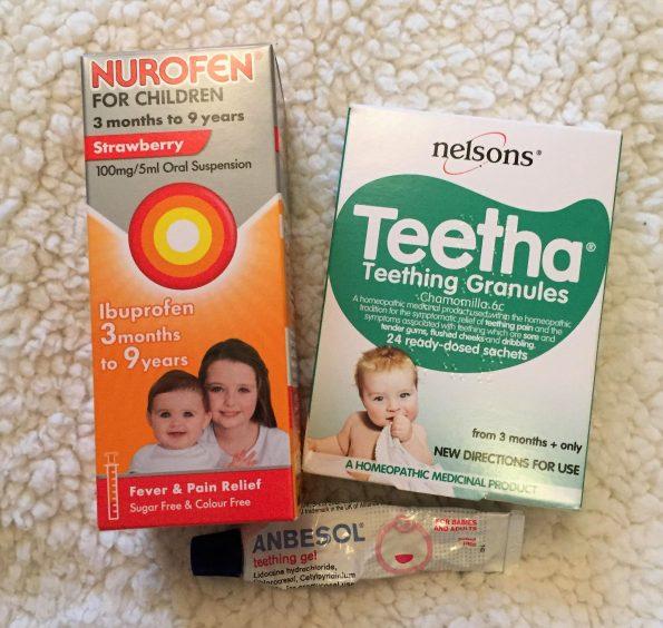 medicines for teething nurofen, granules and teething gel