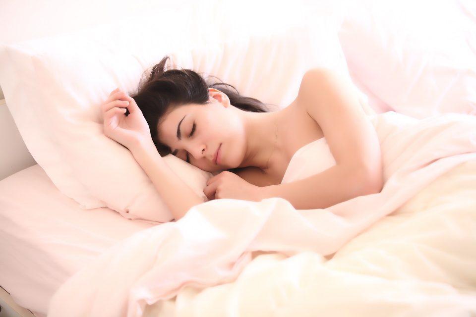 woman sleeping for good health