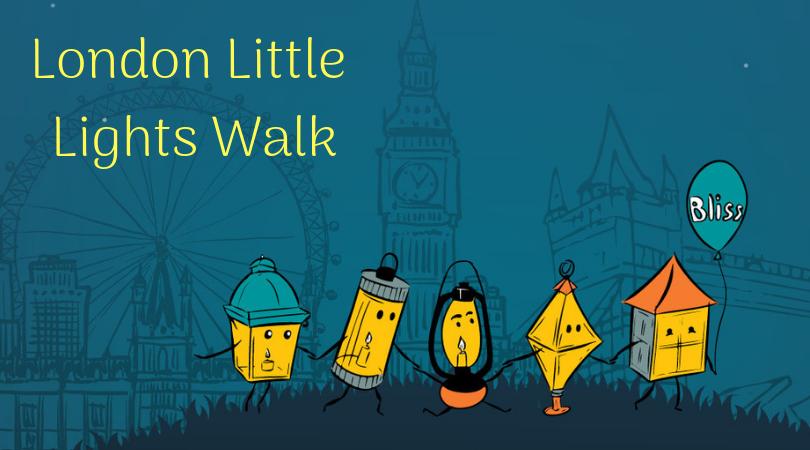 London little lights walk, 5 lanterns walking across London