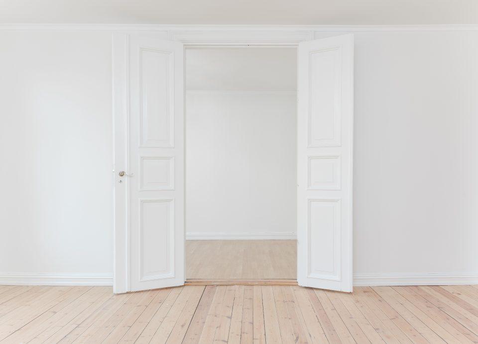 empty room and double doors