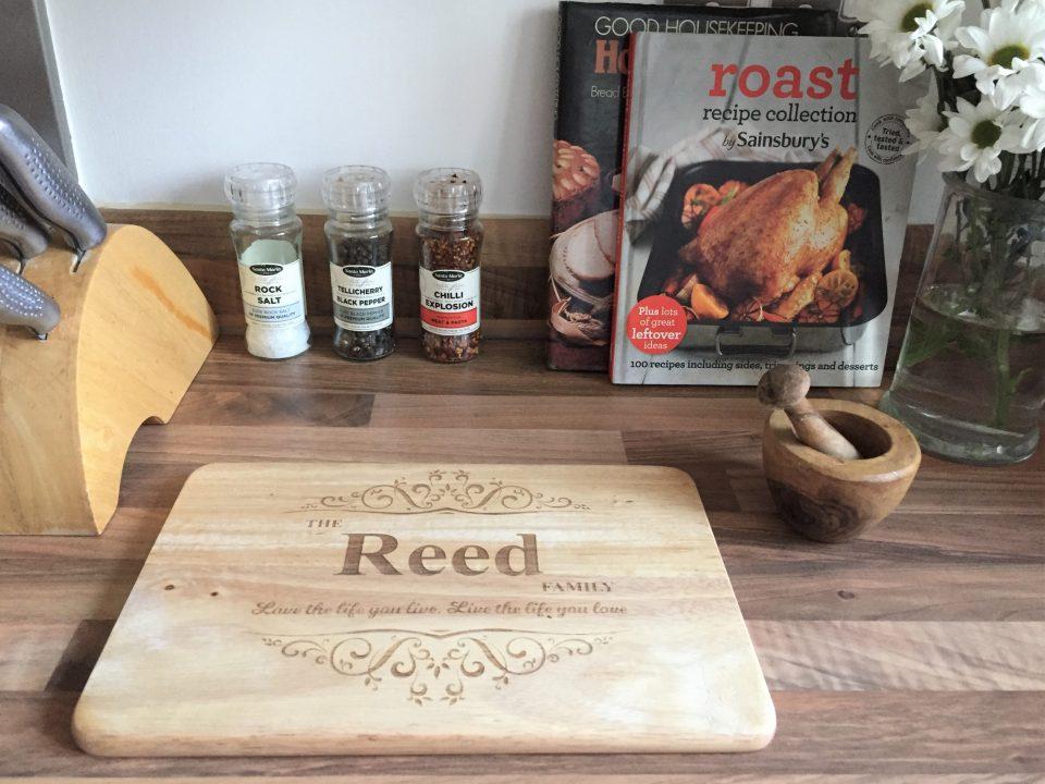 chopping board on my kitchen worktop