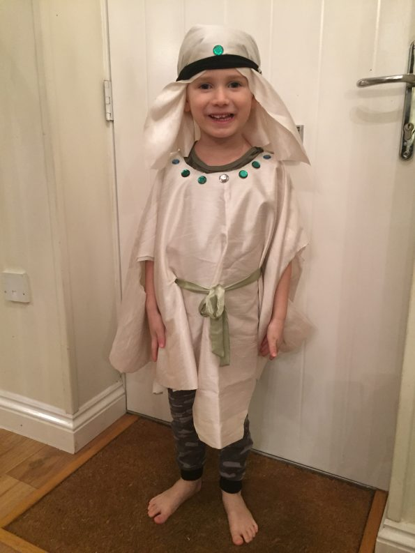 wise man outfit and headdress completed