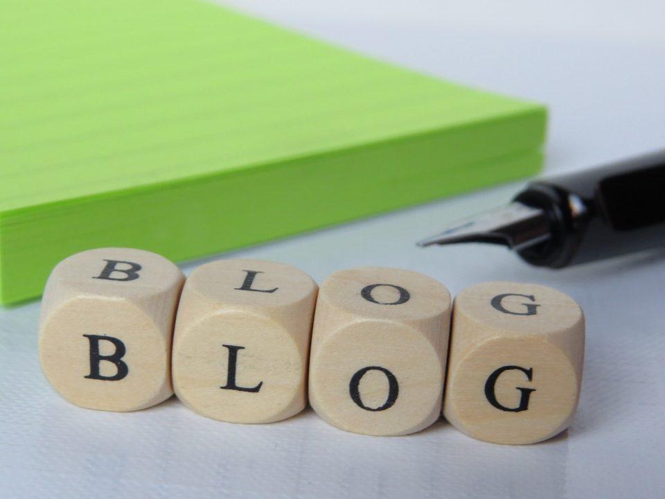 blog written on wooden blocks