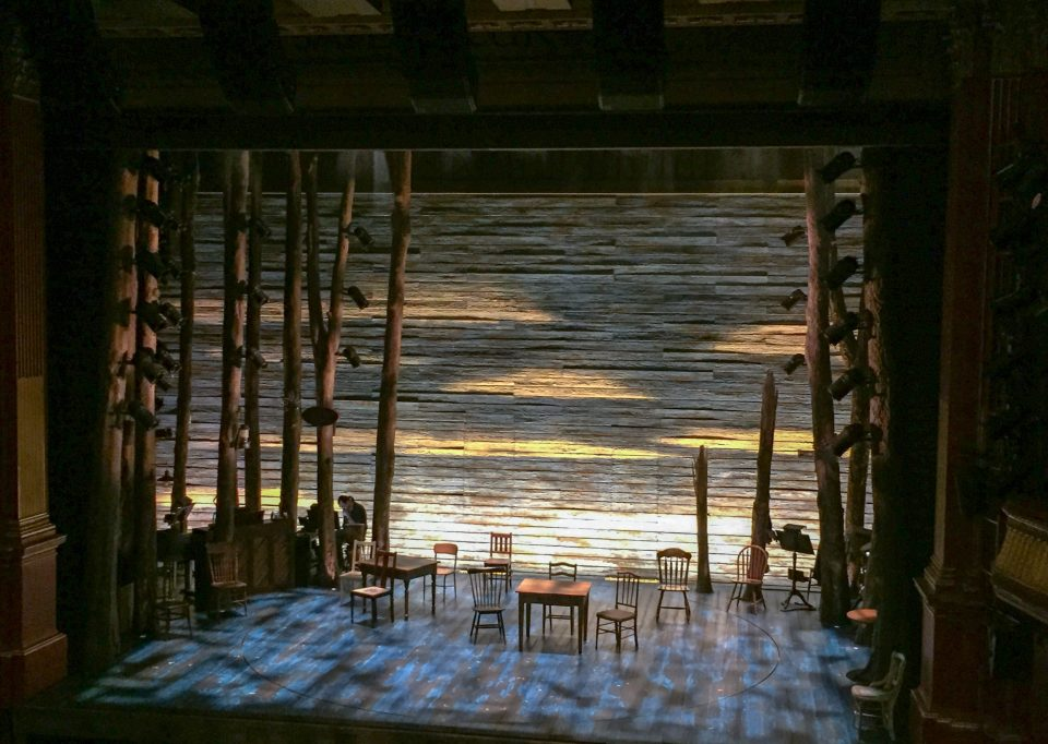 Stage area in The Phoenix Theatre for Come From Away