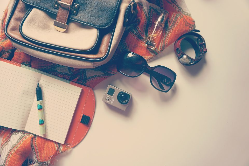 travel items for going abroad. travel insurance