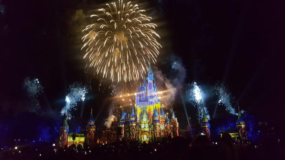 Disney firework display