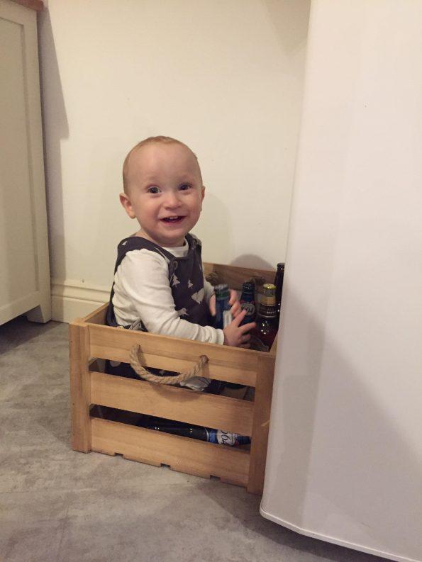 William sat in a box