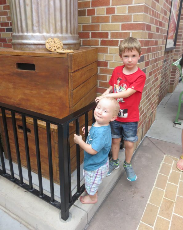 Jake and William in Incredibles area