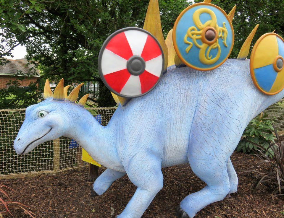 Prince the blue dinosaur