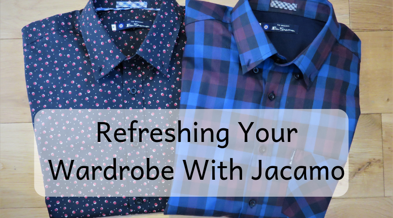 shirts laid out with title refreshing your wardrobe with Jacamo written across