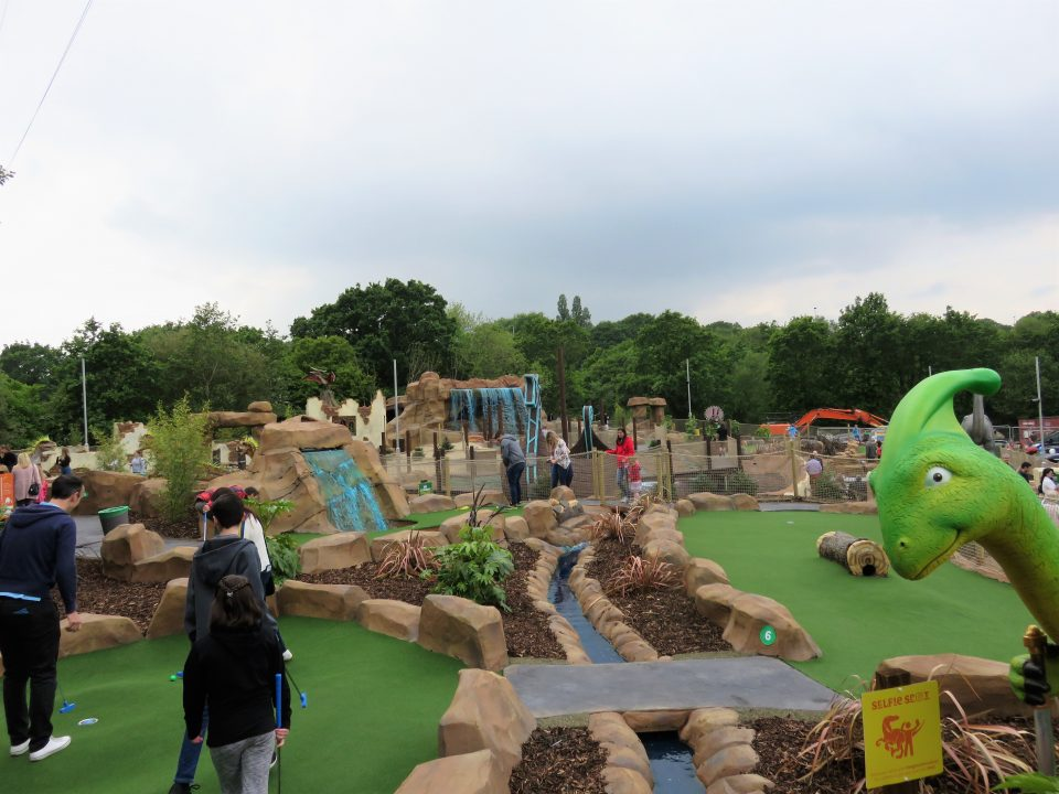 the mighty claws adventure golf course