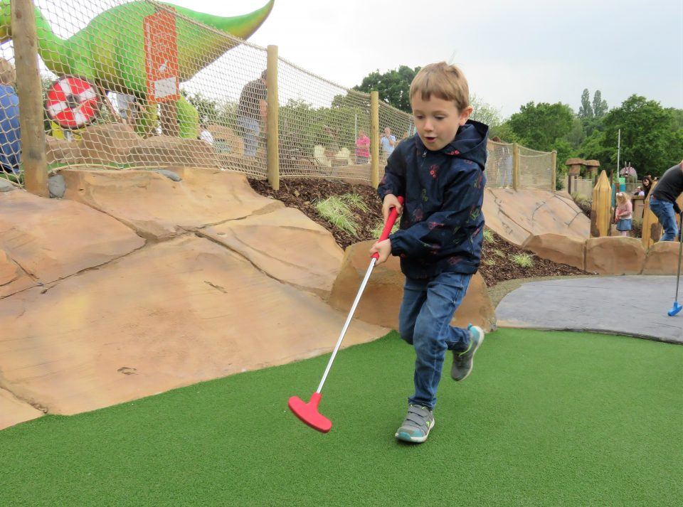Jake running to play golf
