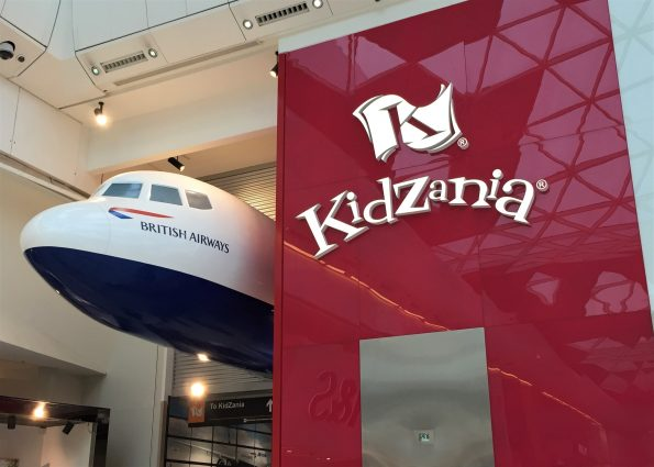 Kidzania front with the plane popping out