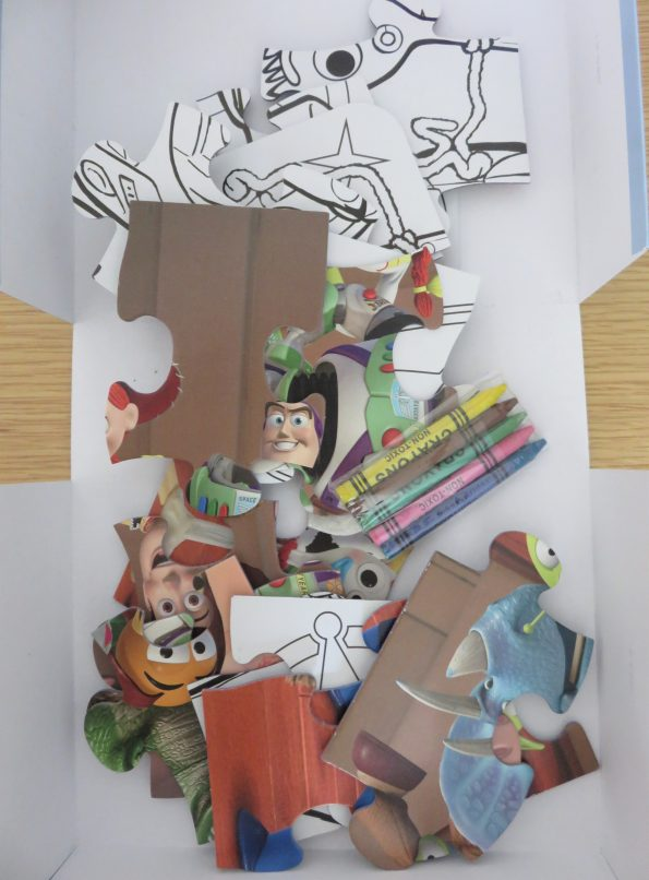 inside the box of the toy story 4 puzzle