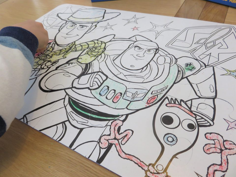 the colouring in puzzle