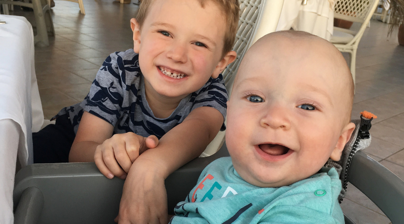 my two boys Jake and William