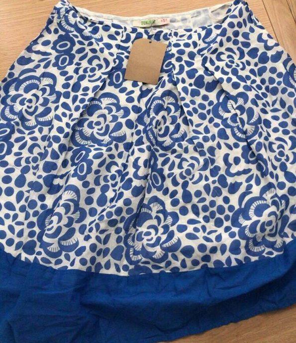 blue and white pretty skirt