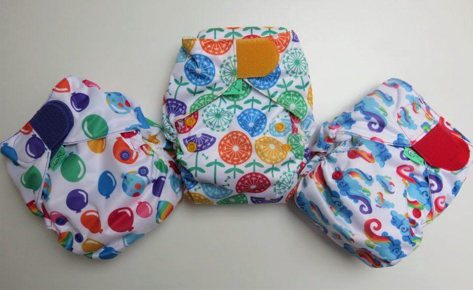 3 reusable nappies