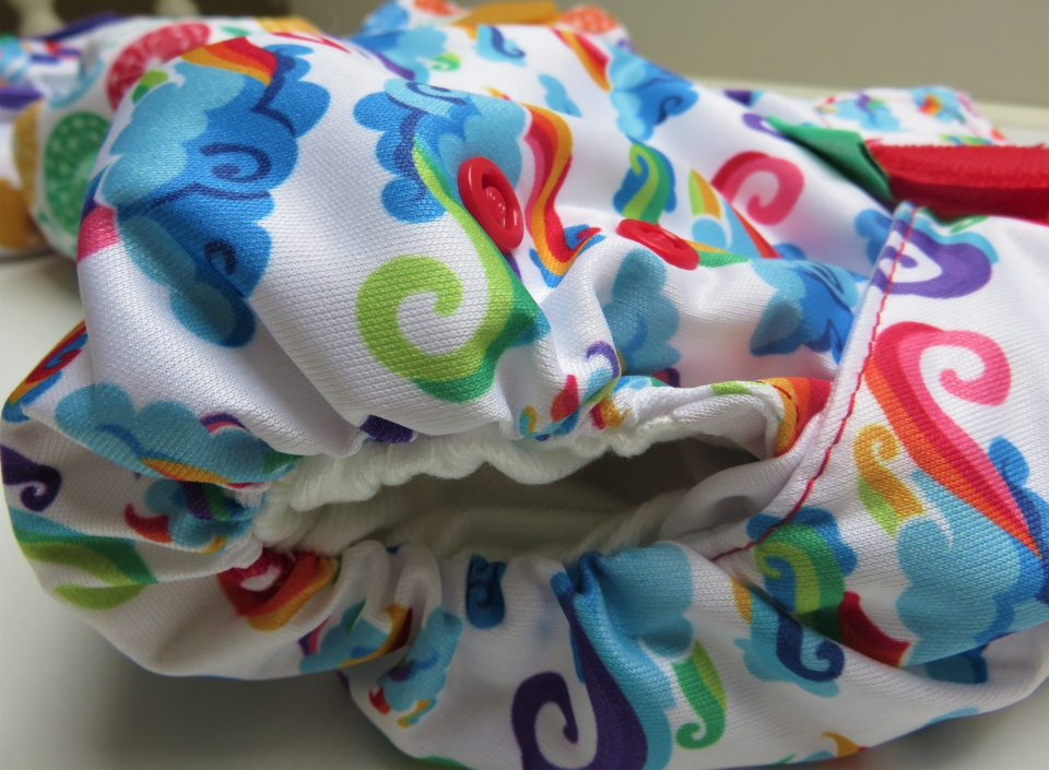 the side of the reusable nappy