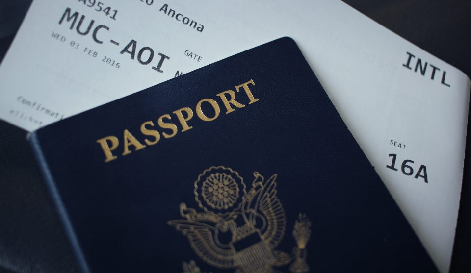 passport and boarding card
